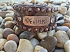 FAITH Hand Stamped, Genuine Leather Bracelet by The Rowdy Cowgirl