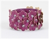 Field of Flowers Purple Bracelet