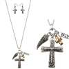 Faith & A Prayer Cross Necklace & Earring  Set