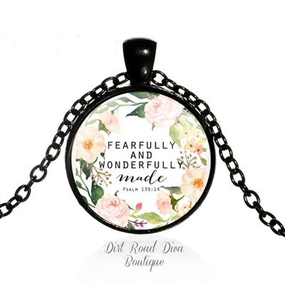Fearfully & Wonderfully Made Psalm 139:14 Necklace