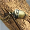 Golden Acorn Necklace