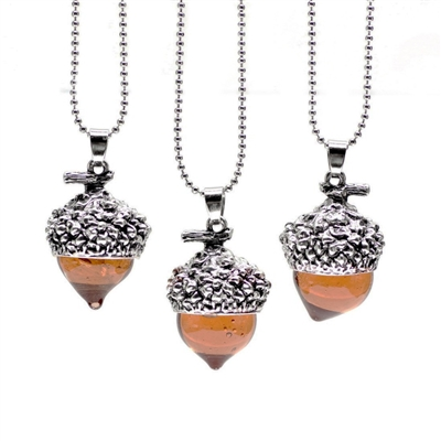 Destined For Great Things Silver Acorn Necklace
