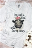 Just a Girl Who Loves Cows V-Neck Tee