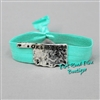 Hammered Disk Oklahoma Comfort Stretch Bracelet in Turquoise