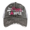 I'm a Happy Camper Distressed Trucker Cap