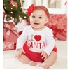 I Love Santa Tutu Crawler by Mud Pie 6 - 9 Mo.