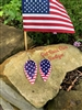 Ole' Glory Stars & Stripes Teardrop Earring