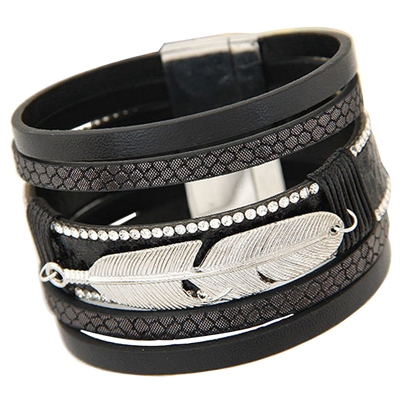 Pagosa Feather Bracelet in Black