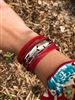 Pagosa Feather Bracelet in Red