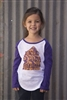 Peace, Love, Freedom Youth Purple Sleeve Tee