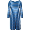 Royal Blue Striped Inset Dress