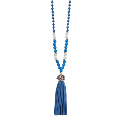 Royal  Suede Tassel Necklace
