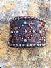 The Rowdy Cowgirl Genuine Leather Brown Cuff Bracelet