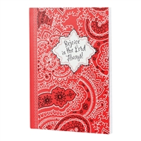 REJOICE IN THE LORD  Red Bandana Journal Dayspring