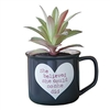 "2-In-1 ""She Believed She Could"" Succulent & Coffee Mug"