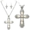 Sundance Cross Necklace & Earring Set