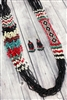 Santa Fe Black and Red Seed Bead Necklace Set