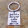 Spirit Lead Me Where My Trust Is Without Borders Key Chain