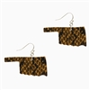 Snake Skin Print Leather Oklahoma Earrings