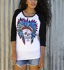 Sweet Sugar Skull Burnout Baseball by Original Cowgirl Clothing Co