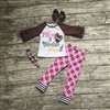 3 Piece Toddler Little Sister Football Outfit I BLING IT MY BROTHER BRINGS IT