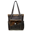 Trinity Ranch Tooled Hair-On Leather Collection Concealed Handgun Tote