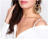 Trendy Tortoise Shell Earrings