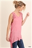 UMGEE Pink Blush Sleeveless Fringe Sleeveless Top