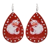 Vintage Inspired Santa Claus Tear Drop Earrings ~