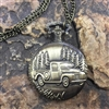 Vintage Pick Up Truck Pocket Watch