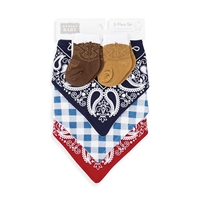 Western Bandana Bib and Socks Set by Hudson Baby®