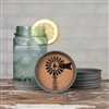 4 Piece Windmill Mason Jar Lid Coaster Set