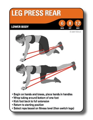 FitDeck Resistance Tubing Exercise Cards
