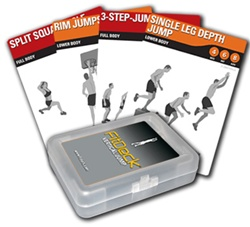 FitDeck Vertical Jump Exercise cards