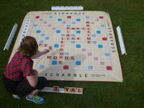 Giant Scrabble A Huge Word Game