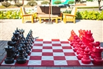 "Giant 25"" Chess Set - Red & Black"