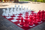 "Giant 25"" Chess Set - Red & White"