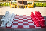 Giant Rubberized Chess Mat - Red/White