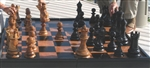 "Large 12"" Teak Chess Set"