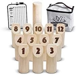 Wooden 12 pin Scatter Set