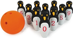 Kids Penguin Bowling Ball Set