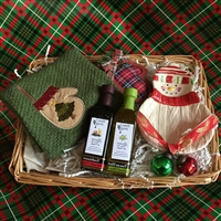 Snowman Tasting Dish/Towel with Olive Oil and Vinegar