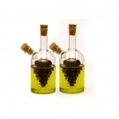 Oil and Vinegar Cruet, Grape, 2 pieces