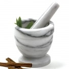 Marble Mortar and Pestle, 3/4C
