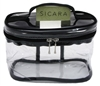 "Sicara Clear Cosmetic Bag Oval Train Case (5.5X7.5X4) (10691)<br><br><span style=""color:#FF0101""><b>Buy 12 or More = $3.93</b></span style><br>Case Pack Info: 24 Units"