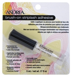 "Andrea Brush-On Striplash Adhesive 0.17oz (11204)<br><br><span style=""color:#FF0101""><b>Buy 12 or More = $1.81</b></span style><br>Case Pack Info: 72 Units"