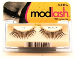 "Andrea Lashes Strip Style 45 Black (11210)<br><br><span style=""color:#FF0101""><b>Buy 12 or More = $2.05</b></span style><br>Case Pack Info: 72 Units"