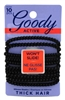 Goody #30785 Slide Proof 4Mm Elastics 10 Count Black (3 Pieces) (12528)<br><br><br>Case Pack Info: 24 Units