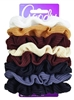 Goody #01800 Ouchless Ribbed Scrunchies 8 Count (3 Pieces) (12542)<br><br><br>Case Pack Info: 24 Units