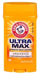 Arm & Hammer Deodorant 2.6oz Solid Ultra Max Unscented (13441)<br><br><br>Case Pack Info: 12 Units